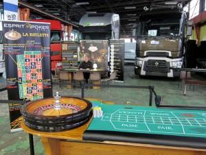 Animation Casino dans les locaux de Renault Trucks pour la présentation de nouveaux véhicules