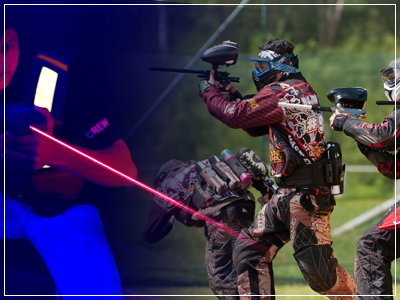 animations paintball et laser game